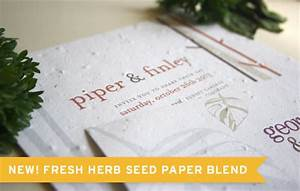 new herb seed paper option for plantable wedding With seed paper wedding invitations indian