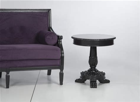 venezia black end table standard rentals modesto