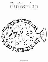 Coloring Fish Puffer Pufferfish Pages Template Cartoon Dolphin Drawing Noodle Twisty Outline Angelfish Twistynoodle Getcoloringpages Login Favorites Templates Getdrawings sketch template