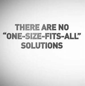 One Fits All Matratze : there are no one size fits all solutions peopleint ~ Michelbontemps.com Haus und Dekorationen