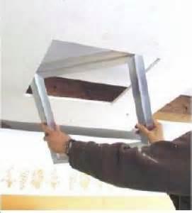 montaggio controsoffitti cartongesso botola a griglia botole ispezione cartongesso con telaio