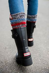HUNTER RAIN BOOTS + STRIPED BOOT SOCKS Sequins & Things