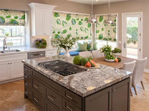 kitchen with cooktop in island photo page hgtv 8744