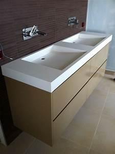 Plan Vasque Bois : plan de vasque salle de bain maison design ~ Premium-room.com Idées de Décoration