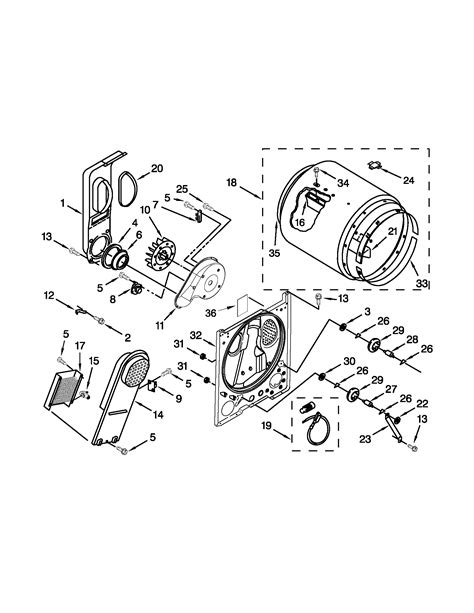 roper model red4640yq1 residential dryer genuine parts