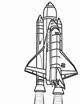 Space Shuttle Coloring Pages Rocket Ship Nasa Drawing Discovery Rockets Clipart Outline Realistic Print Spacecraft Spaceship Printable Sheet Clipartpanda Houston sketch template