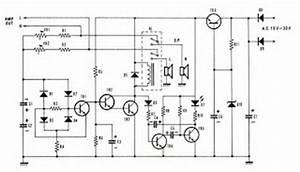 schematic diagram speaker protector circuit with dc With speaker protector