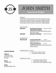 creative resume templates With free monogram resume template