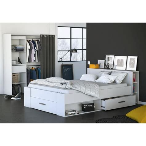 cdiscount chambre a coucher cool oxygene lit adulte blanc l x la chambre coucher with