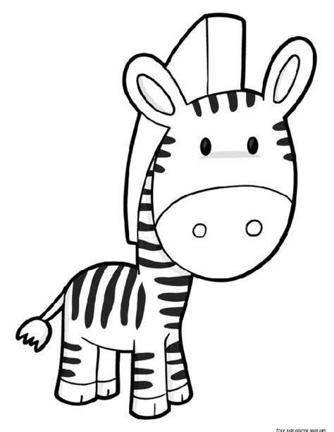 printable zebra preschool coloring page  kidsfree printable coloring pages  kids