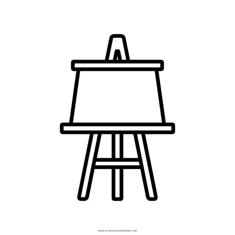 pretty design easel coloring page art drawing  beautiful