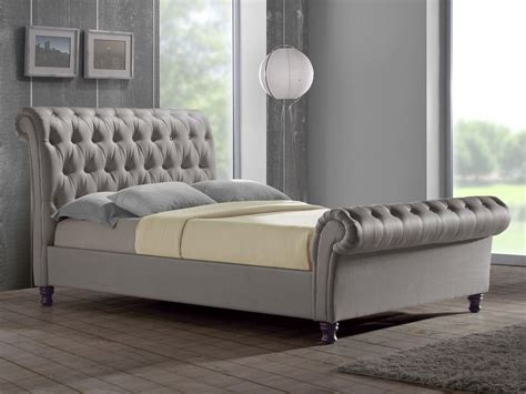 Fabric King Bed Frame by Birlea King Size Grey Fabric Bed Frame