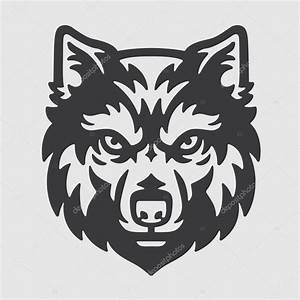 Wolf Head Logo Mascot Emblem — Stock Vector ...