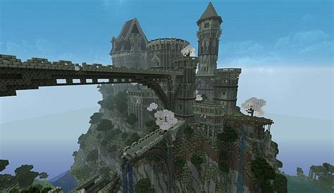 ancient castle ruins minecraft building