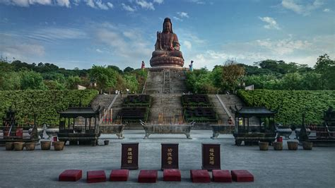 nanhai baofeng temple  xiqiao mountain national forest park foshan visions  travel