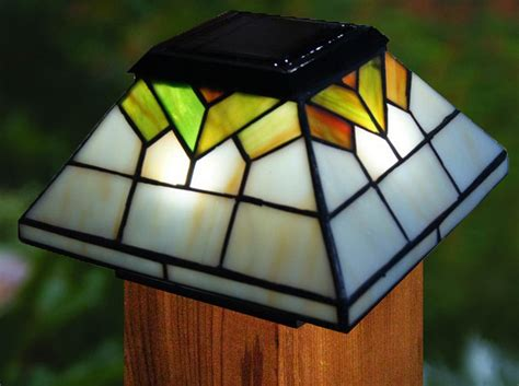 two colorful wellington solar post cap lights
