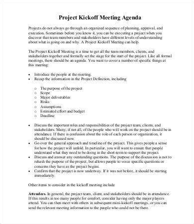 project agenda template    documents