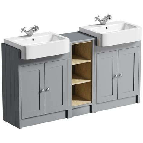 Free Standing Bathroom Vanity Ideas by The Bath Co Dulwich Grey Floorstanding