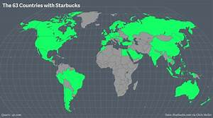 Maps of every Starbucks on Earth — Quartz