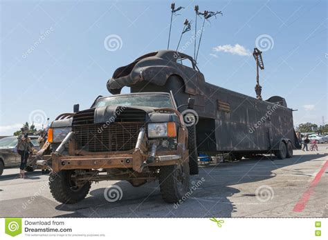 survival truck cer post apocalyptic survival truck editorial stock photo