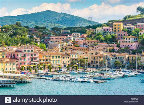 Porto Azzurro Elba by Porto Azzurro In Elba Island Tuscany Stock Photo