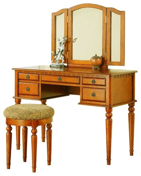 bobkona st croix collection vanity set with stool white poundex furniture f407 bobkona st croix vanity set with