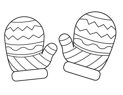 Mitten Coloring Page