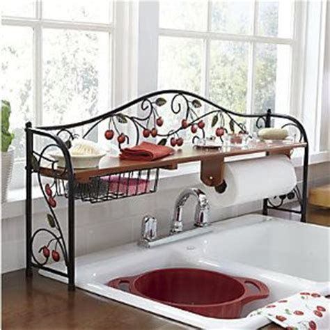 Red Over The Sink Shelf by 25 Best Ideas About Cherry Kitchen Decor On Pinterest