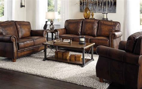 coaster montbrook 503983 brown leather chair a