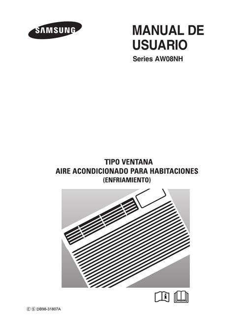 Samsung AW08NHAB Manual de usuario Manualzz
