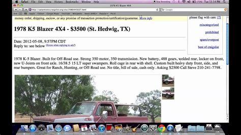 craigslist san antonio  cars  trucks prices