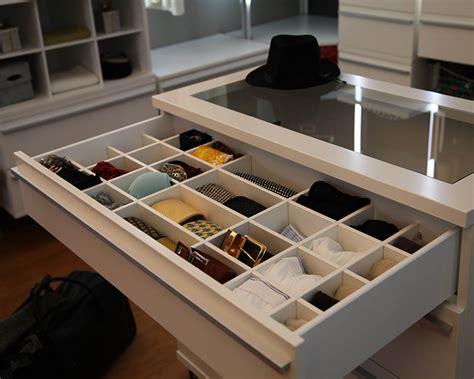 Schubladeneinteilung für Ankleidezimmer