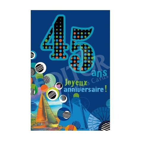 anniversaire de mariage 45 ans carte carte joyeux anniversaire 45 ans cadeau maestro