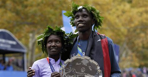 New York City Marathon: Kenya's Stanley Biwott and Mary ...