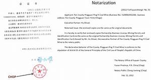 true owner and legal representative of the ping yi mine With notary true copy of original document