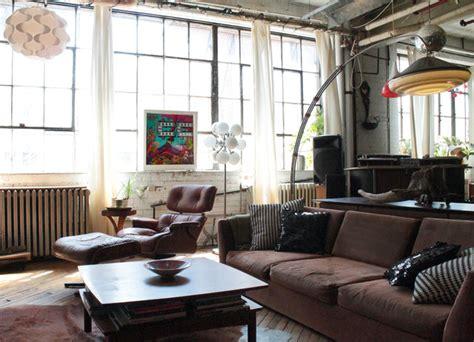 industrial living room my houzz vintage finds in funky montreal artists loft Vintage