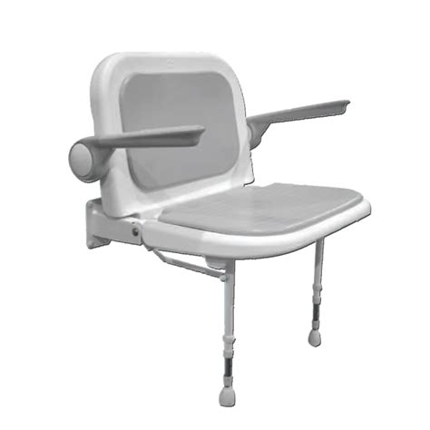siege de mural wide fold up shower seat with back and arms serie