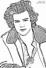 Coloring Harry Direction Celebrity Printable Famous 1d Directions Colorear Kesha Colouring Celebrities Drawing Faces Disegni Stampare Grande Dibujos Peppa Pig sketch template