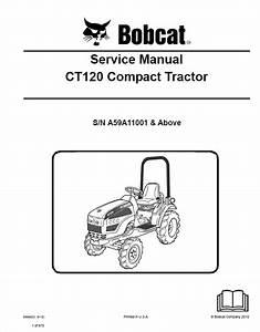 Bobcat Ct120 Compact Tractor Service Manual Pdf