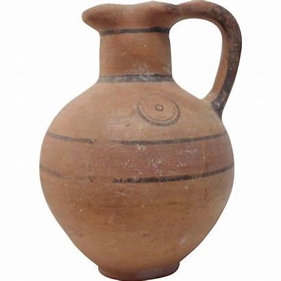 Jug Water Ancient Roman Pottery Terracotta Century