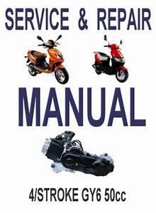 Chinese Scooter 50cc Gy6 Service Repair Shop Manual On Cd Jianshen Kaisar Dayang
