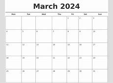 March 2024 Free Calendar Template