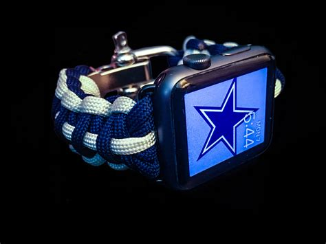 apple watch dallas cowboys paracord band 42mm and 38mm