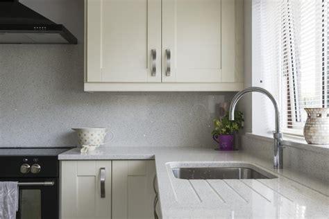 kitchens newry ivory shaker kitchen  sage green island