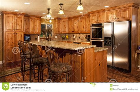 wooden floor kitchen new home modern custom kitchen stock photos image 9898053 1161