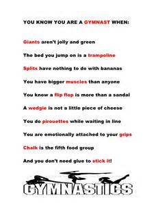Gymnastics Poems and Quotes