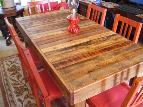 rustic reclaimed wood dining table