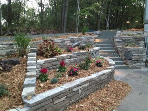 landscaping ideas retaining wall hillside hillside landscaping minneapolis mn photo gallery