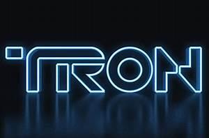 3D TRON Legacy Text Effect in shop CS6 • IceflowStudios