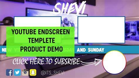 End Screen Template New End Screen Template Product Demo 2016